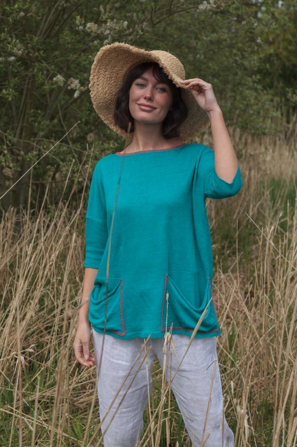 Pocket Flo Linen Top