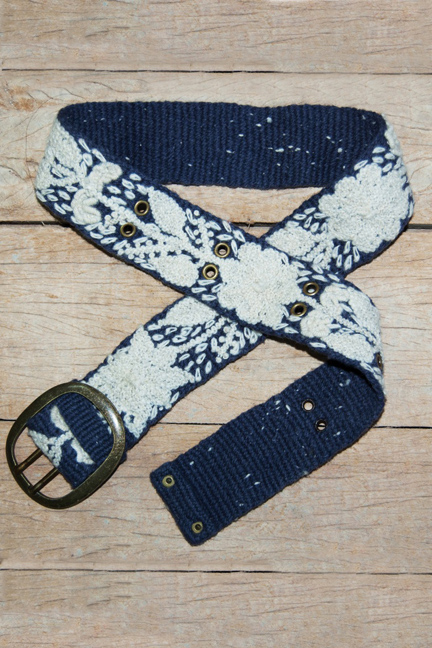 Denim Folkloric Belt